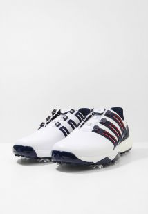 Imagen secundaria de producto de adidas Golf PWRBAND BOA BOOST Zapatos de golf white/night indigo/bold red - adidas Golf