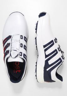 Imagen principal de producto de adidas Golf PWRBAND BOA BOOST Zapatos de golf white/night indigo/bold red - adidas Golf